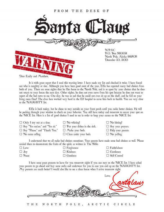 picture regarding Free Printable Letter From Santa Template known as 15 Free of charge Printable Letters towards Santa Templates - Spaceships