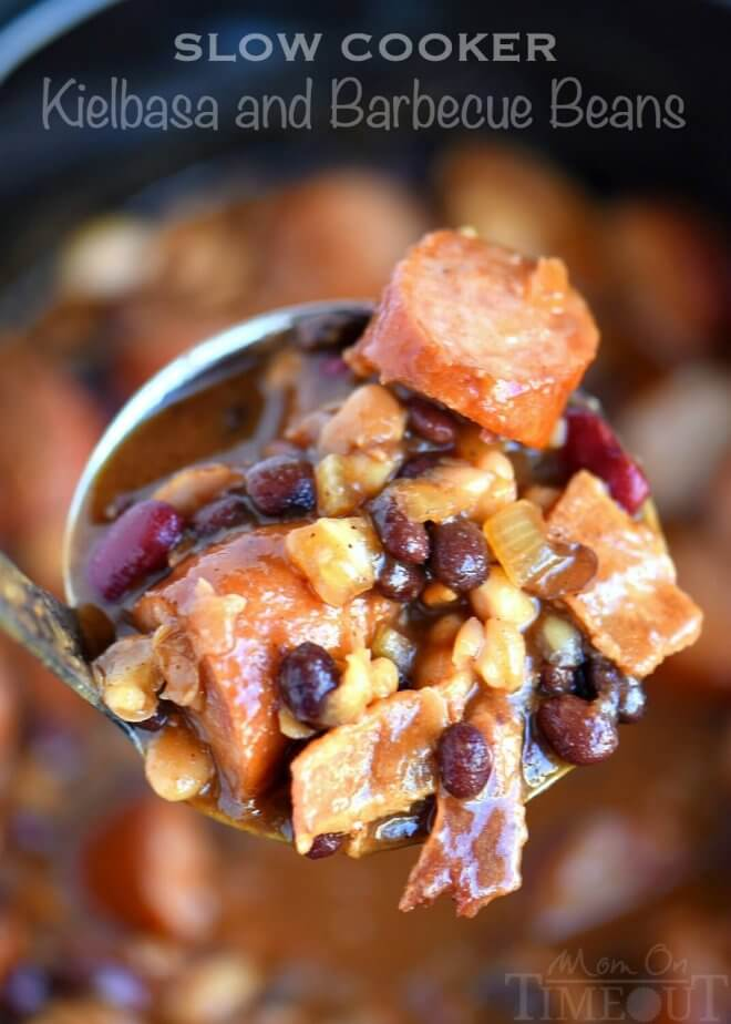 Slow Cooker Sausage and Beans
