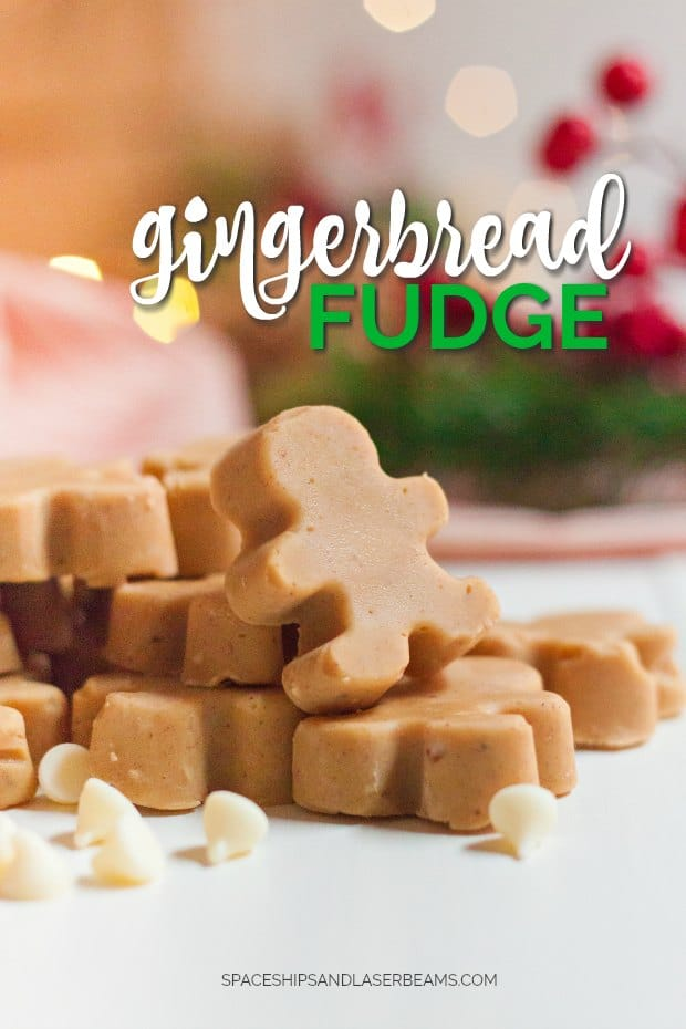 GINGERBREAD MAN SHAPED FUDGE