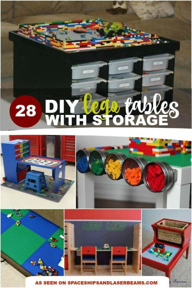 DIY Lego Tables with Storage
