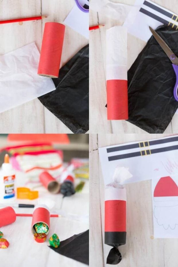 How to Make Santa Claus Christmas Crackers