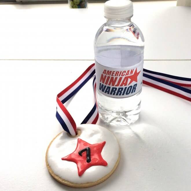 Free Printable American Ninja Warrior Bottle Wrapper