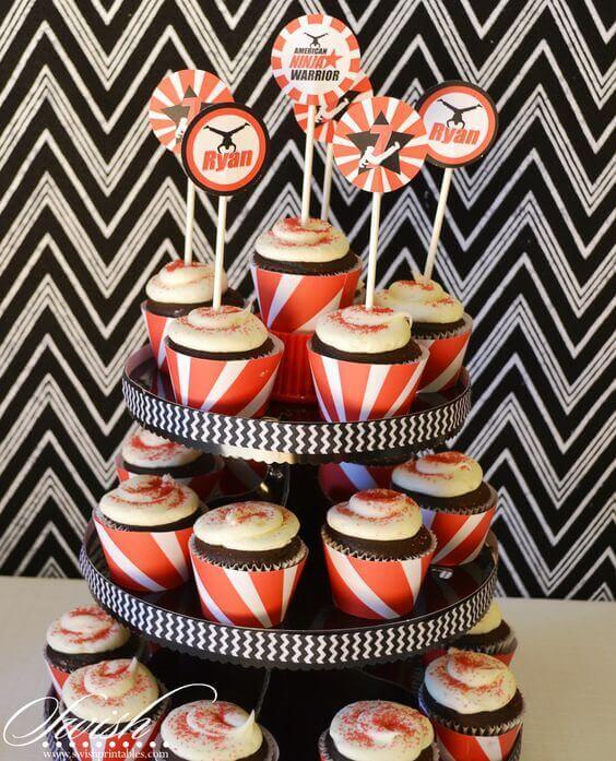American Ninja Warrior Birthday Invitations