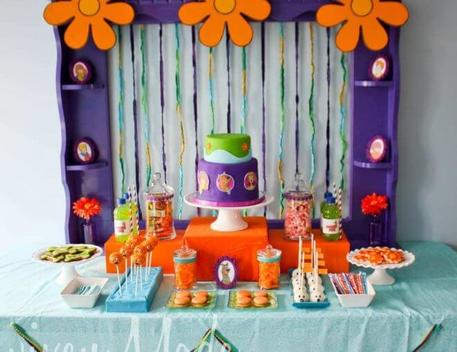 Scooby Doo Birthday Party Dessert Table