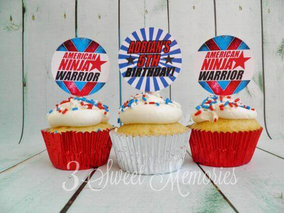 American Ninja Warrior Printable Cupcake Toppers