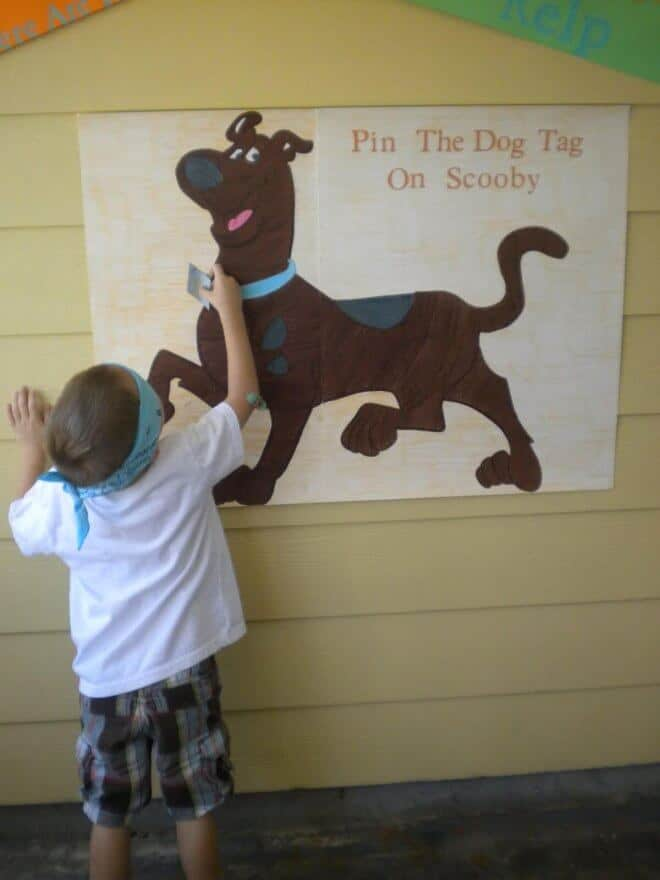 Pin the Dog Tag on Scooby Party Game