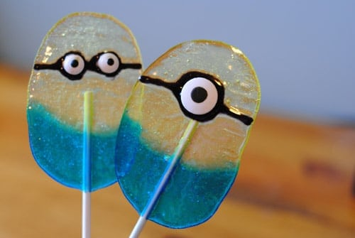 These DIY Minion Lollipops are inspirational and perfect for a Despicable Me party.