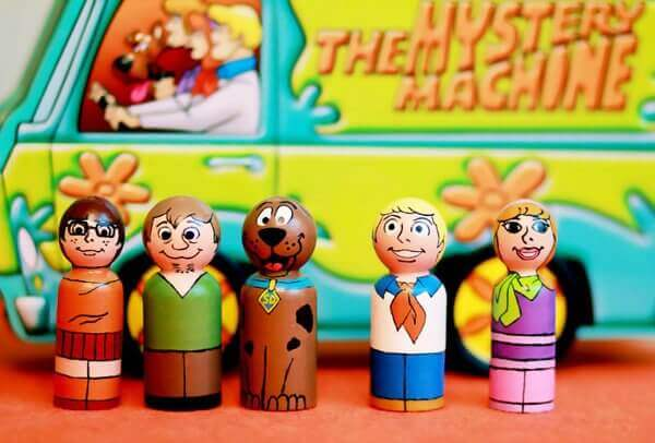 Scooby Doo Peg Dolls