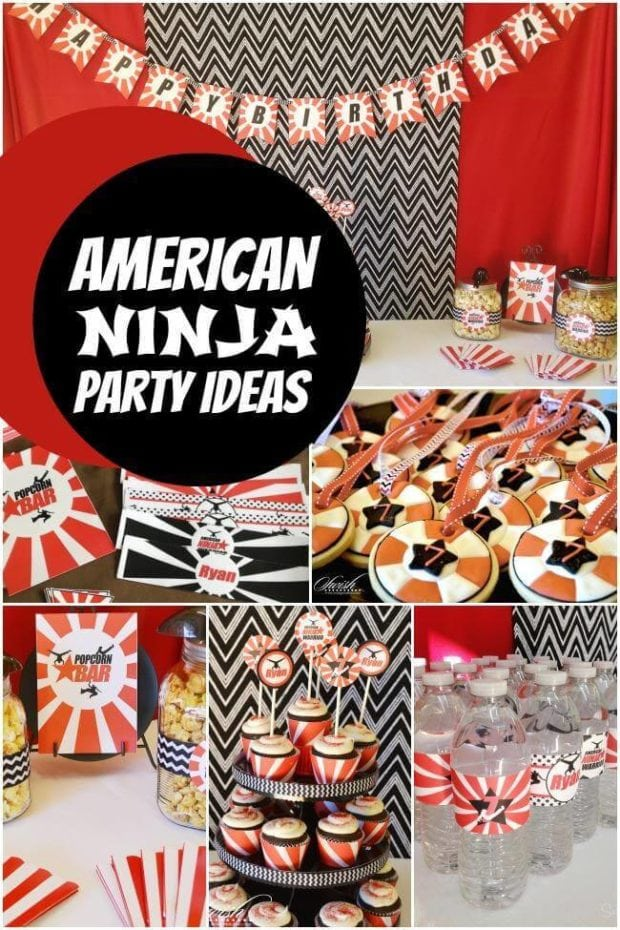 An American Ninja Warrior Birthday Party