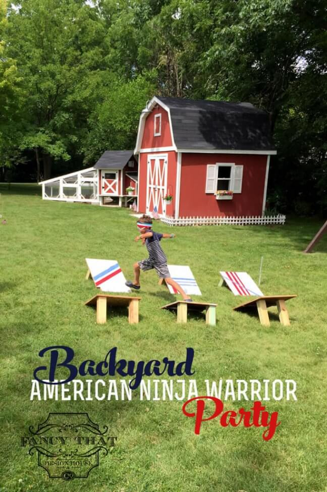Backyard American Ninja Warrior Course