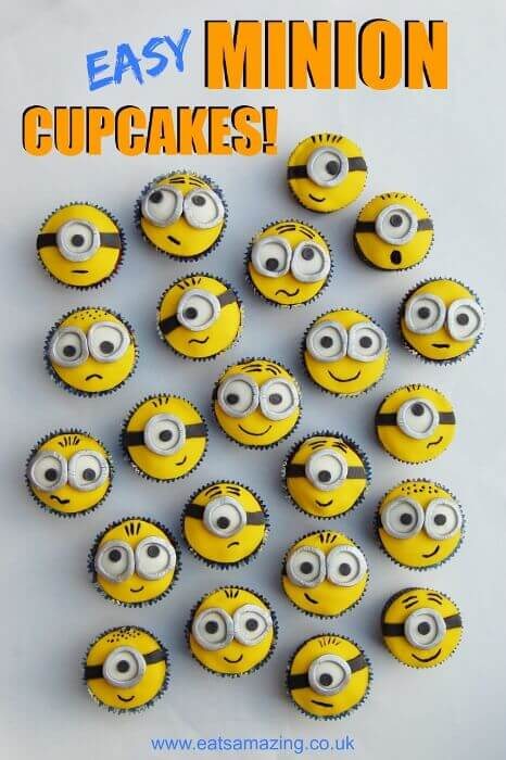 These Easy Minion Cupcakes are cute and fairly simple!