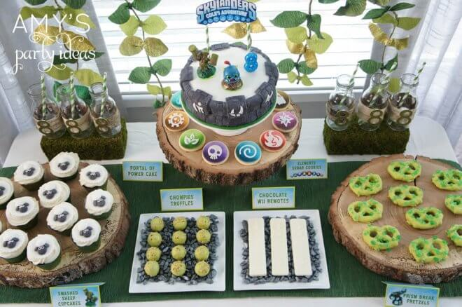 Skylanders Party Dessert Table