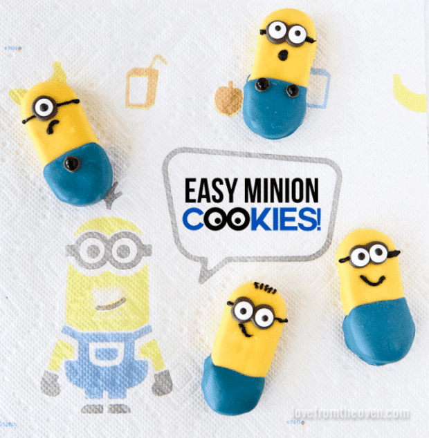 These Easy No-Bake Minion Cookies will delight your guests!