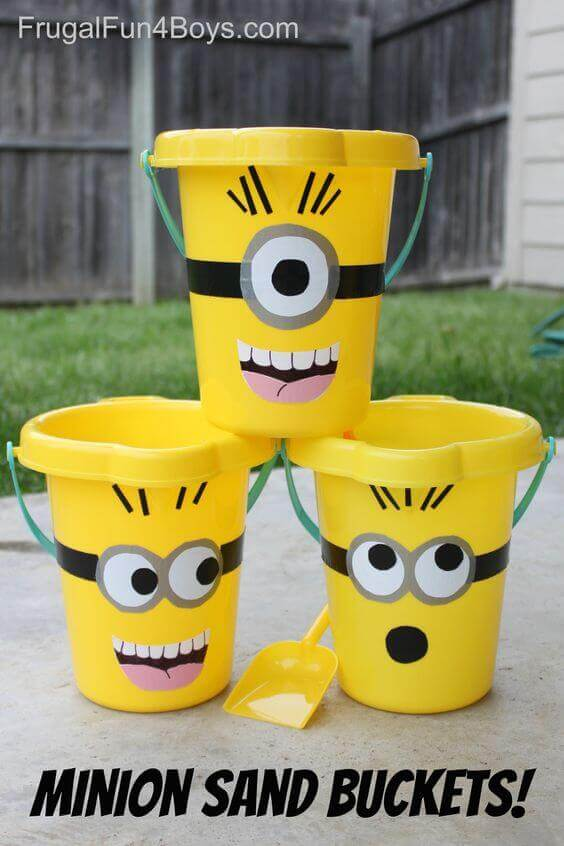 These Minion Sand Buckets are simple and a great way to incorporate your theme into traditional party games and activities.