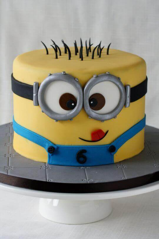 This amazing Minion Cake is a 3D version of a minion! Guests at your Despicable Me party will be thrilled.