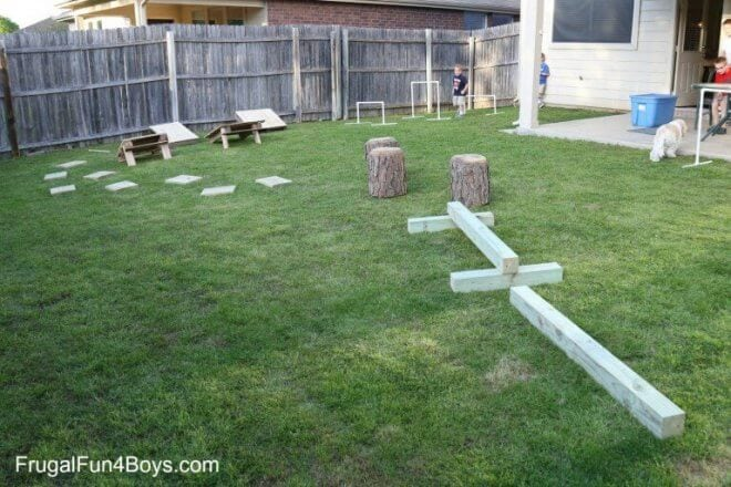 DIY American Ninja Warrior Backyard Course