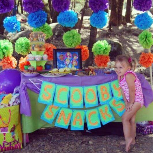 Scooby Doo Snacks Party Table