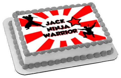 American NInja Warrior Cake Topper