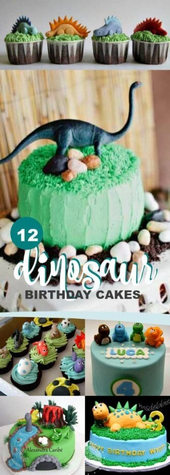 Dinosaur Birthday Party Cakes for Boys