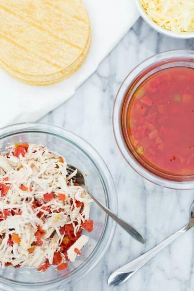 Ingredients for Enchiladas