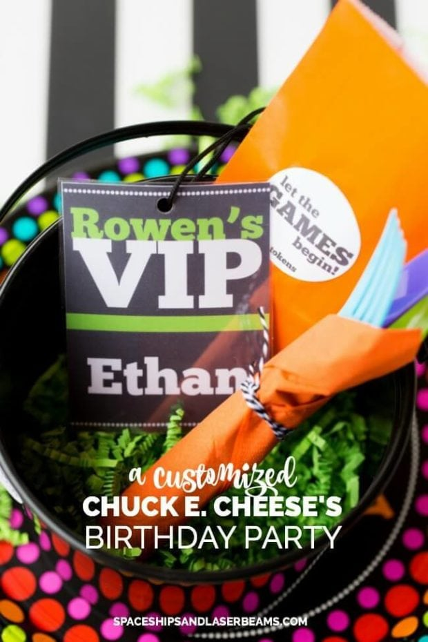 A Customized Chuck E Cheese Birthday Party