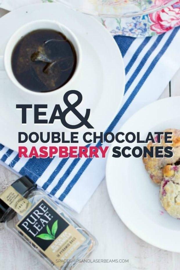 Tea and Double Chocolate Raspberry Scones