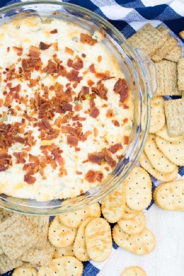 Bacon Cheddar Cream Cheese Party Dip
