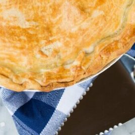 A close up of food, with Pot pie