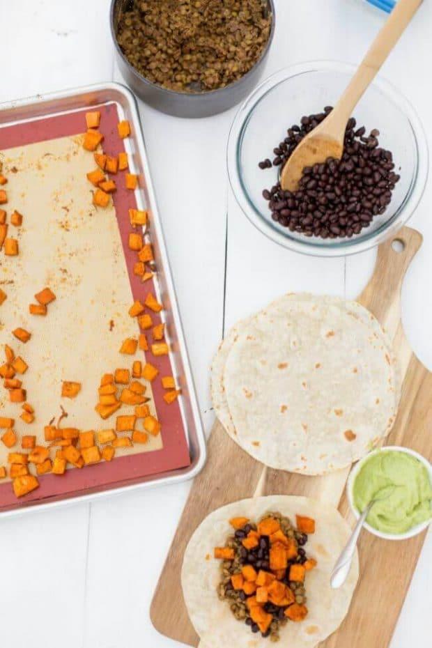 How to Make a Lentil Burrito