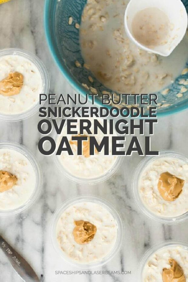 Peanut Butter Snickerdoodle Overnight Oatmeal