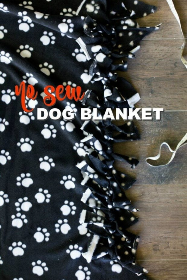 No Sew Dog Blanket Pattern
