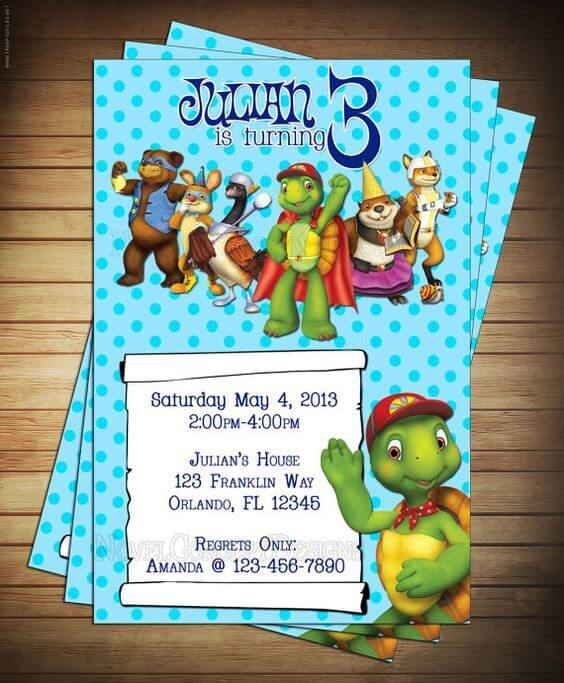 Franklin the Turtle Party Invitations