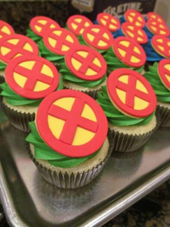 X-Men Fondant Cupcake Toppers