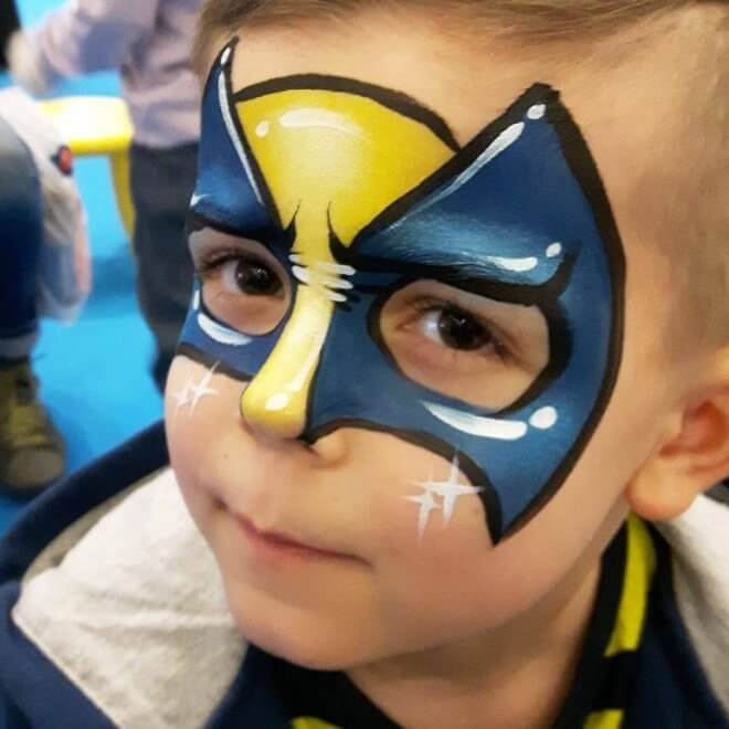 Face-painting is a fantastic activity for any XMen party.