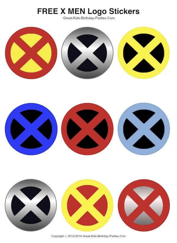 Get these free XMen printable logo stickers.