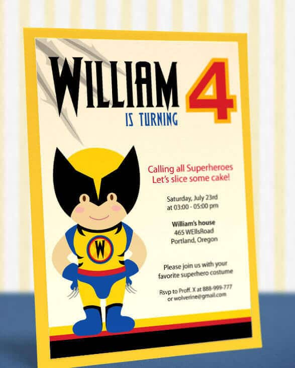 These XMen party invitation printables are fun and easy