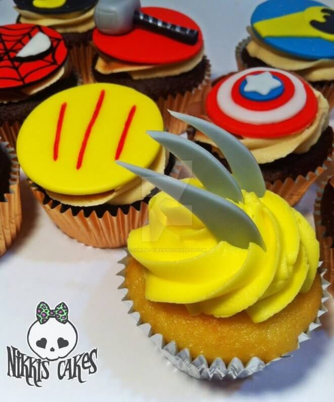 These amazing XMen Claw Cupcakes are tasty XMen-themed treats