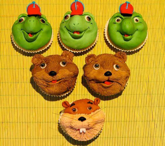 Franklin the Turtle Cupcakes