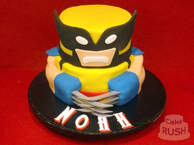 An amazing tiered Wolverine cake is tasty and theme appropriate
