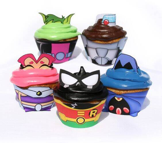 Teen Titans Go Cupcake Wrappers