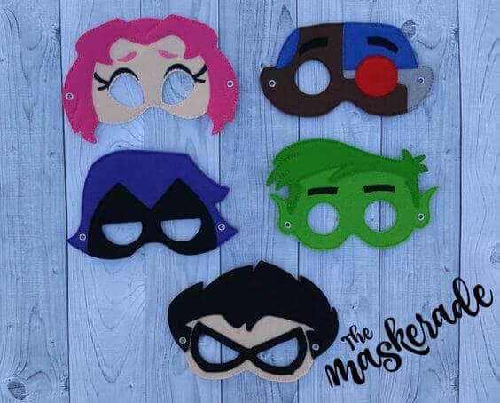 Teen Titans Go Masks