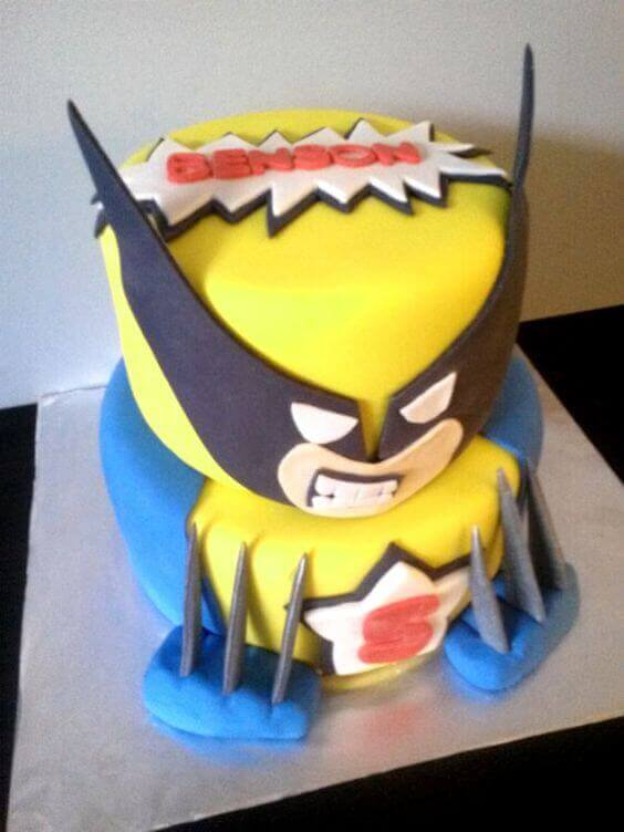 This tiered XMen Wolverine Cake will impress and delight your guests.