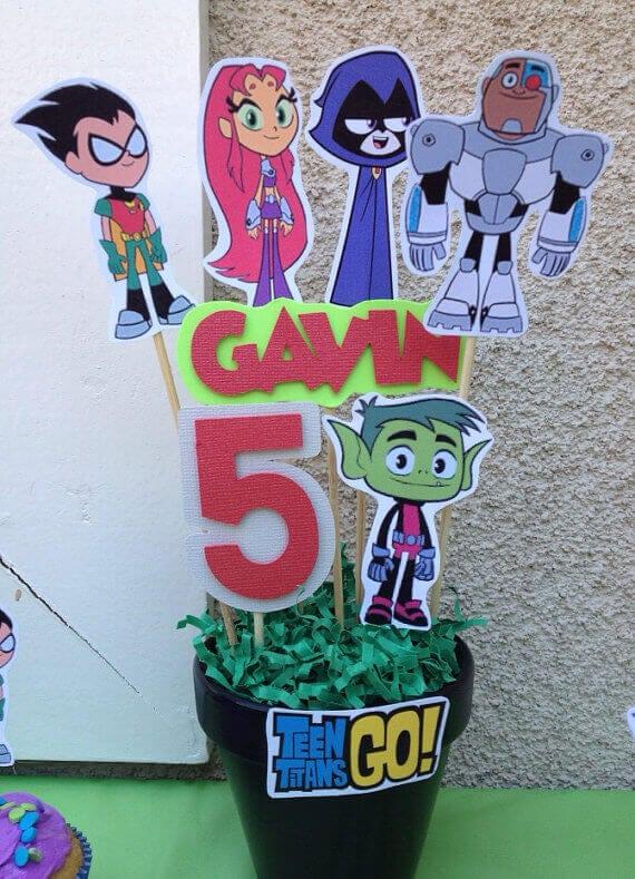 Teen Titans Go Inspired Centerpiece