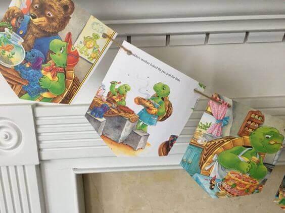 Franklin the Turtle Book Page Bunting