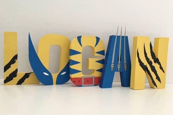 Wolverine Paper Mache Letters