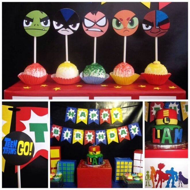 Teen Titans Go Birthday Party