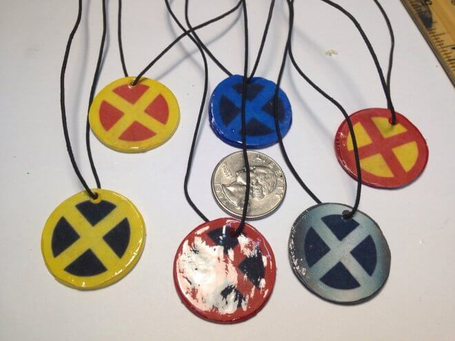 These XMen charm necklaces are fantastic favors for guests