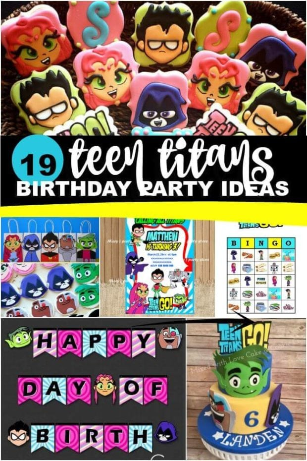 Teen Titans Go Birthday Party Ideas