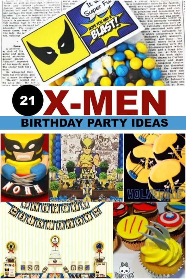 X-Men birthday party ideas from Spaceships and Laser Beams.