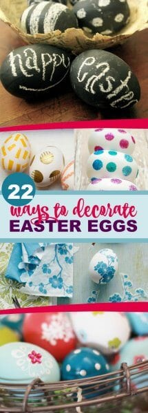 DIY ways to decorate easter eggs
